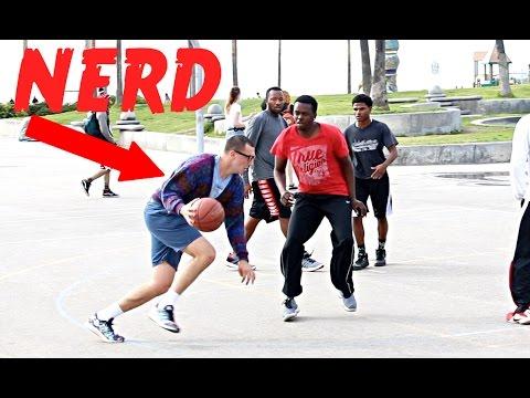 NERD PLAYS BASKETBALL AT VENICE BEACH!!