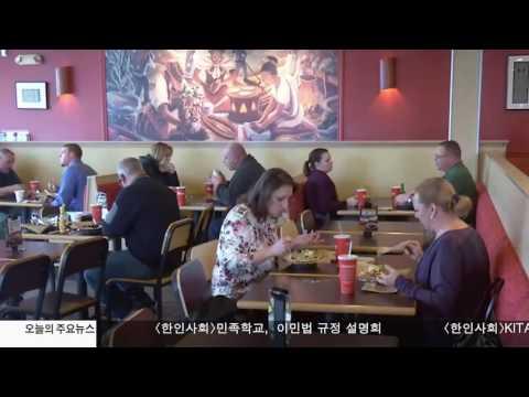 뉴욕 식당 93% 'A등급' 크게 개선  5.4.17 KBS America News
