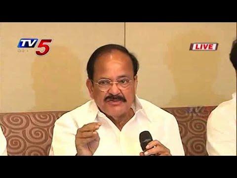 Venkaiah Naidu Talks to Media over