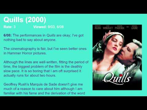 Movie Review: Quills (2000) [HD]