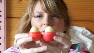 How to tell a EOS lip balm fake - YouTube