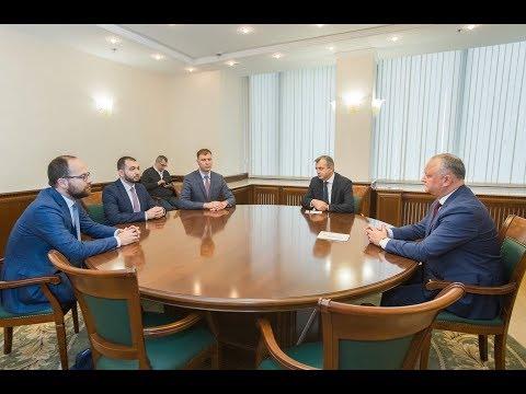 """Igor Dodon a avut o întrevedere cu un grup de manageri ai companiei """"Yandex"""""""