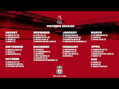 EPIC 2019-20 LIVERPOOL FIXTURES REVEALED - TOP 6 FIXTURES ANALYSED IN PREMIER LEAGUE