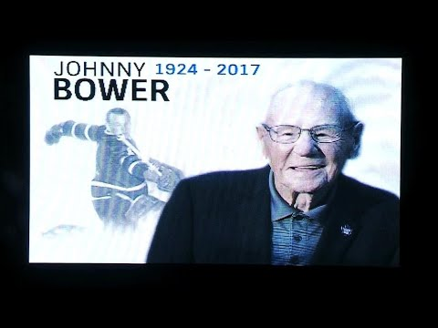 Video: Maple Leafs, Coyotes honour late Johnny Bower with moment of silence