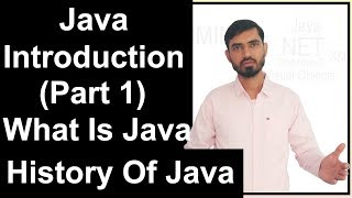 Java Introduction (Part 1) What Is Java || History Of Java