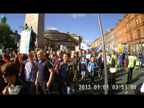Right to Water protest march. Dublin Oct 11th 2014