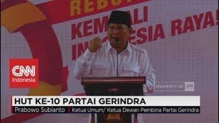 Video (FULL) Pidato Prabowo Subianto di HUT Ke-10 Partai Gerindra MP3, 3GP, MP4, WEBM, AVI, FLV Mei 2018
