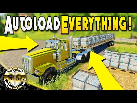 AUTOLOAD EVERYTHING : EGGS, COTTON, BALES, PALLETS ALL IN ONE - Farming Simulator 19 Gameplay