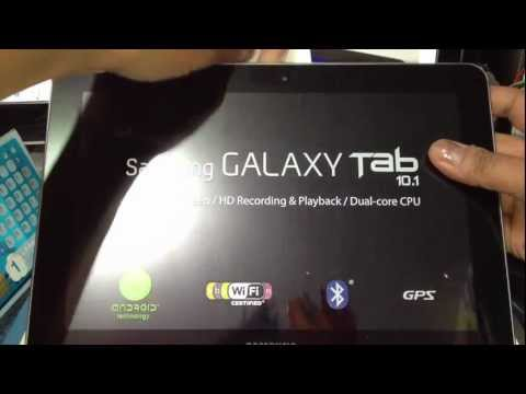 Samsung Galaxy Tab 10.1 Unboxing 16GB 3G+Wifi
