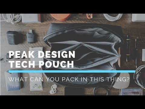 What can you pack inside the Peak Design TECH POUCH? | The Travel Line Kickstarter