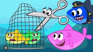 Video Fishes in Net Song - Baby Shark Parent Advise Nursery Rhymes Cartoon MP3, 3GP, MP4, WEBM, AVI, FLV Mei 2019