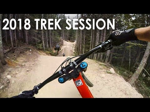 Demo Riding a 2018 Trek Session - Whistler Bike Park Downhill (видео)