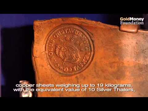 Copper money in Sweden 1600 to 1700