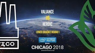 Valiance vs Heroic - IEM Chicago 2018 EU Quals - map2 - de_nuke [GodMint]