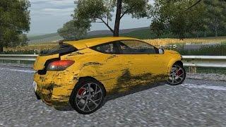 Renault Megane RS 250 Mk3 drive and crash test (Links) - WR2, EA Games, video games