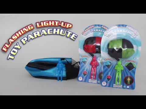 Aeromax Flashing Light-Up Tangle Free Toy Parachute