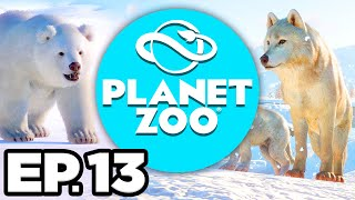 Planet Zoo: Arctic Pack Ep.13 - •️ • SNOW LEOPARD & NEW EXHIBIT CREATURES!!! (Gameplay / Let's Play)