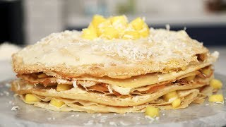 How To Make An Easy Crepe Cake by Tastemade
