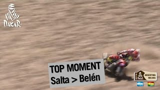 Poważny upadek motocyklisty Paulo GONCALVESA na 8 etapie Dakaru