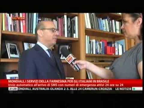 Brasile 2014: servizi speciali predisposti da Farnesina - intervista a segretario generale Valensise