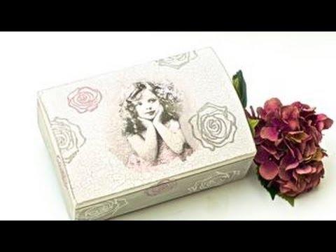 Decoupage krok po kroku - kuferek z dziewczynką i różami