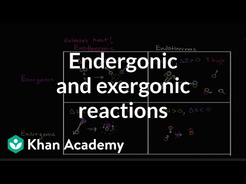 Endergonic Exergonic Exothermic And Endothermic Video Khan