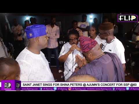 SAINT JANET SINGS FOR SHINA PETERS @AJUMN'S CONCERT FOR SSP @ 60
