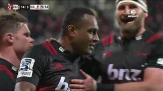 Crusaders v Sunwolves Rd.8 Super Rugby Video Highlights 2017