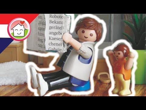 Playmobil filmpje Nederlands Papa op het potje - Familie Huizer