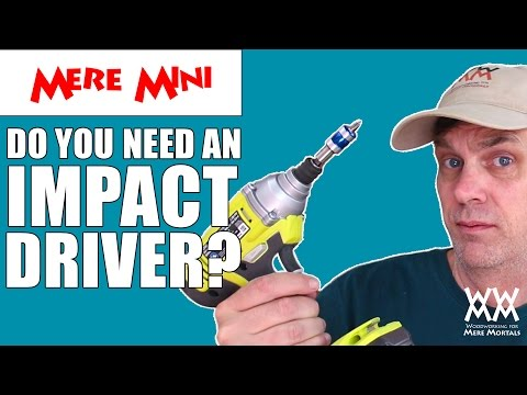 woodworking - What is an impact driver? Can it replace your drill? This video demonstrates the differences and explains why an impact driver might improve your woodworking and other DIY projects around the...