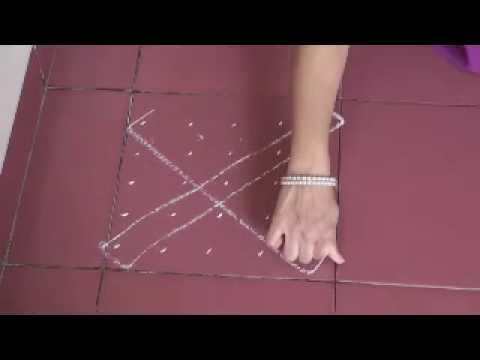 Square rangoli patterns using dots 5*5