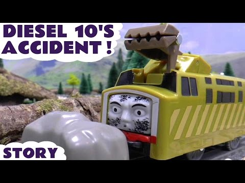 Thomas and Friends Diesel 10 Crash Accident Play Doh Diggin Rigs Rescue Story Episode Thomas Train