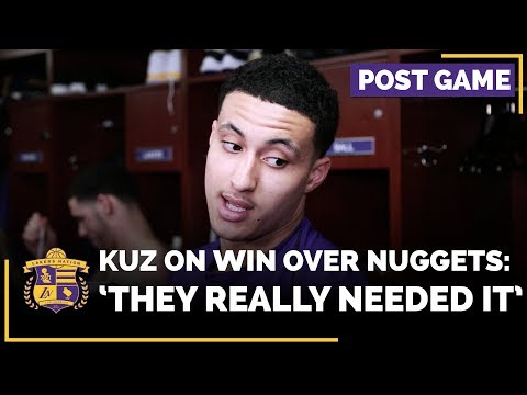 Video: Kyle Kuzma Is Happy With Win Over Denver Nuggets Because 'They Really Needed It'