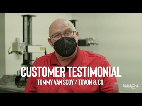 <h3>Customer Testimonial -  Tommy Van Scoy / Tovon & Co. </h3>