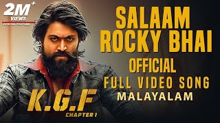 Salaam Rocky Bhai Full Video Song | KGF Malayalam Movie | Yash | Prashanth Neel | Hombale Films