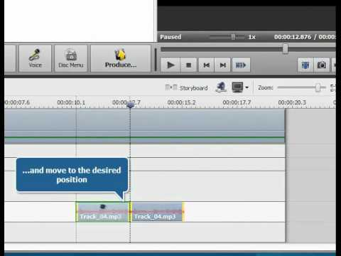 How to overlay audio over your video using AVS Video Editor?