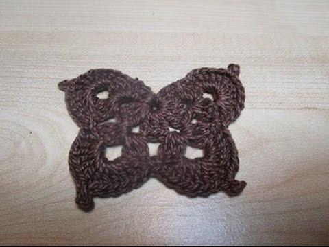 splendidi orecchini a forma di farfalla fatti con l'uncinetto crochet