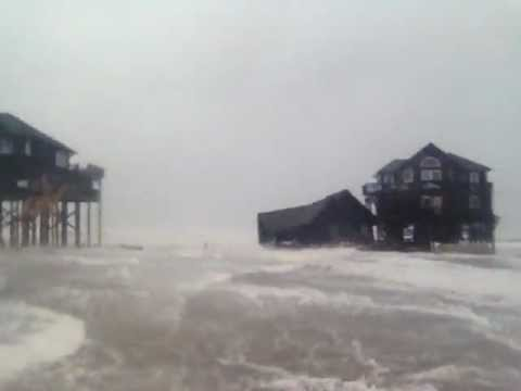 Hurricane Sandy Destroys House in Rodanthe NC