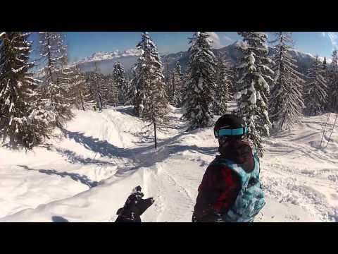 GoPro Hero2 HD Snowboard Flachau
