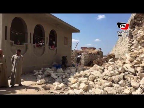 انهيار جزئي بطريق كفر الشيخ الدولي قبل تسليمه