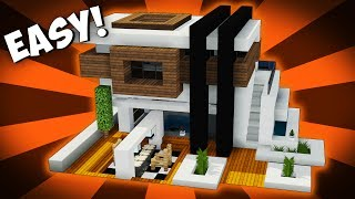Minecraft: How to Make a Futuristic Modern House - Tutorial - Mini Mansion (2017)