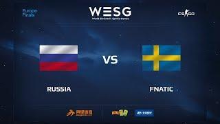 Russia vs fnatic, map 2 mirage, WESG 2017 CS:GO European Qualifier Finals