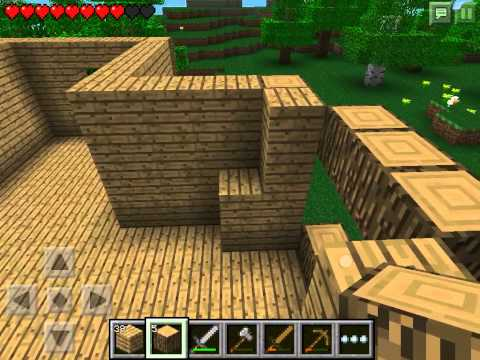 Let's play Minecraft Pocket Edition #4 - Строим дом часть #2