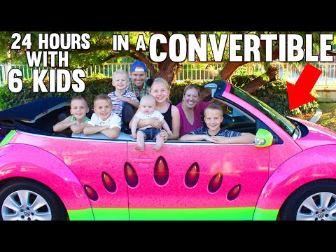 24 Hours with 6 Kids on a Busy Day in our New Car!