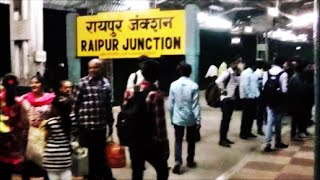 Raipur India  city images : Arriving RAIPUR Junction:Onboard Train 12853 Amarkantak SF Express..Indian Railways!!