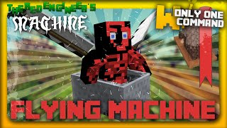 Minecraft Flying Machine with only one command block