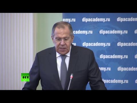 Речь Сергея Лаврова по случаю годовщины смерти Виталия Чуркина - DomaVideo.Ru