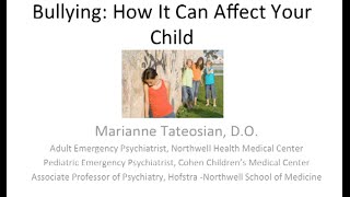 "AAHPO Seminar ""Bullying: How it can affect your child"""
