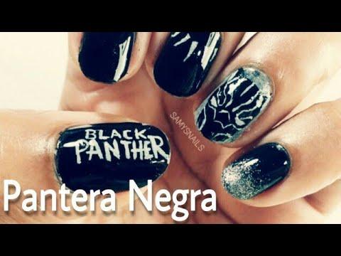 Unhas decoradas do Pantera Negra / Nail Art Black Panther
