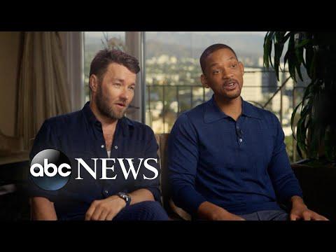 'Bright' stars Will Smith and Joel Edgerton call the new fantasy film 'bizarre' and 'twisted' (видео)